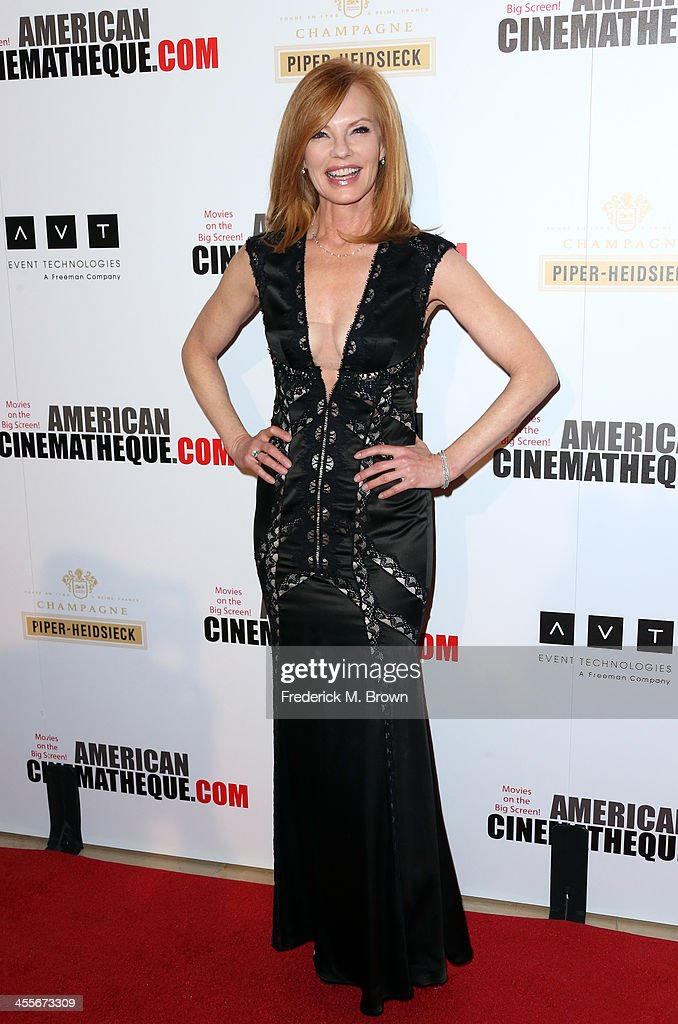 Actress Marg Helgenberger arrives at the 27th American Cinematheque Award honoring Jerry Bruckheimer at The Beverly Hilton Hotel on December 12, 2013 in Beverly Hills, California.