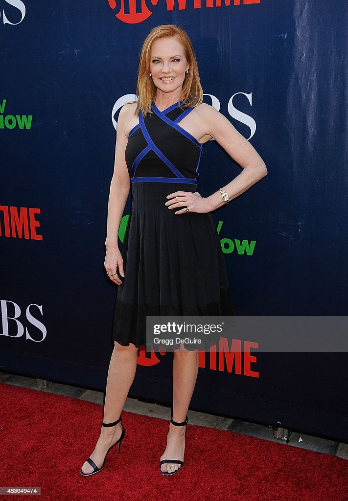 Actress Marg Helgenberger arrives at the CBS, CW And Showtime 2015 Summer TCA Party at Pacific Design Center on August 10, 2015 in West Hollywood, California.