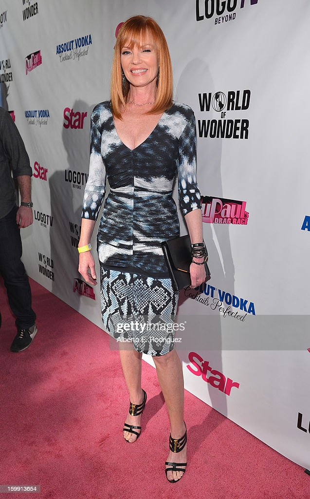 Actress Marg Helgenberger arrives to the premiere of 'RuPaul's Drag Race' Season 5 at The Abbey on January 22, 2013 in West Hollywood, California.