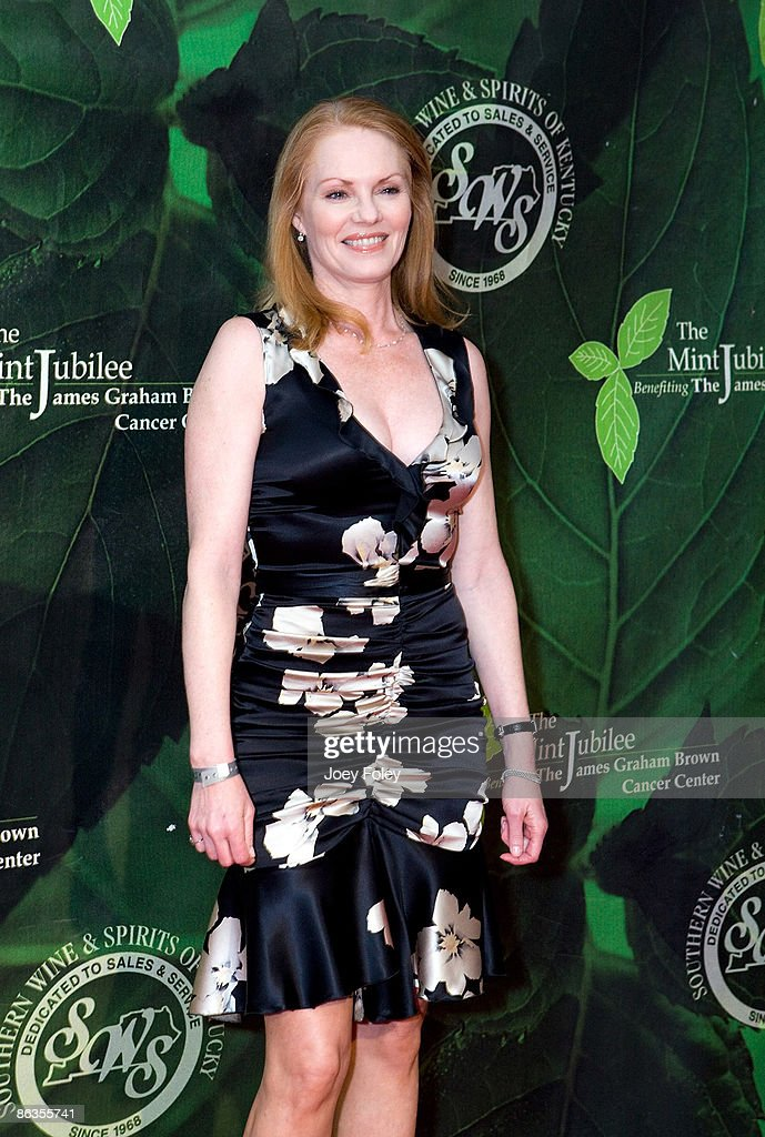 Actress Marg Helgenberger attends the 2009 Mint Jubilee Derby Eve Gala at the Galt House Hotel & Suites on May 1, 2009 in Louisville, Kentucky.