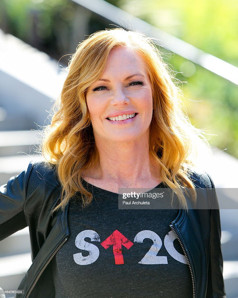 Actress Marg Helgenberger attends the 'Stand Up To Cancer' press conference at Los Angeles City Hall on August 27, 2014 in Los Angeles, California.