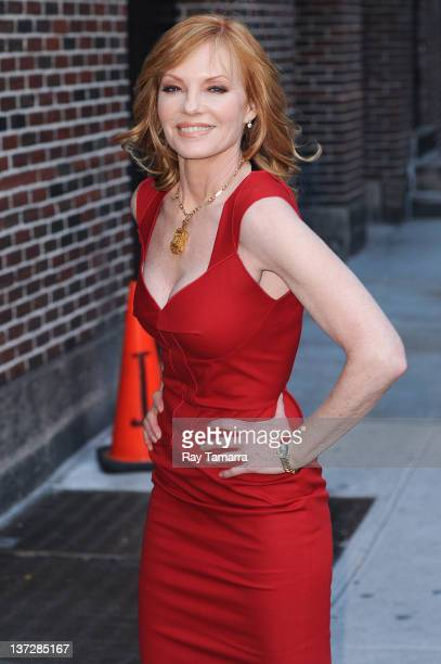Actress Marg Helgenberger enters the 'Late Show With David Letterman' taping at the Ed Sullivan Theater on January 18 2012 in New York City