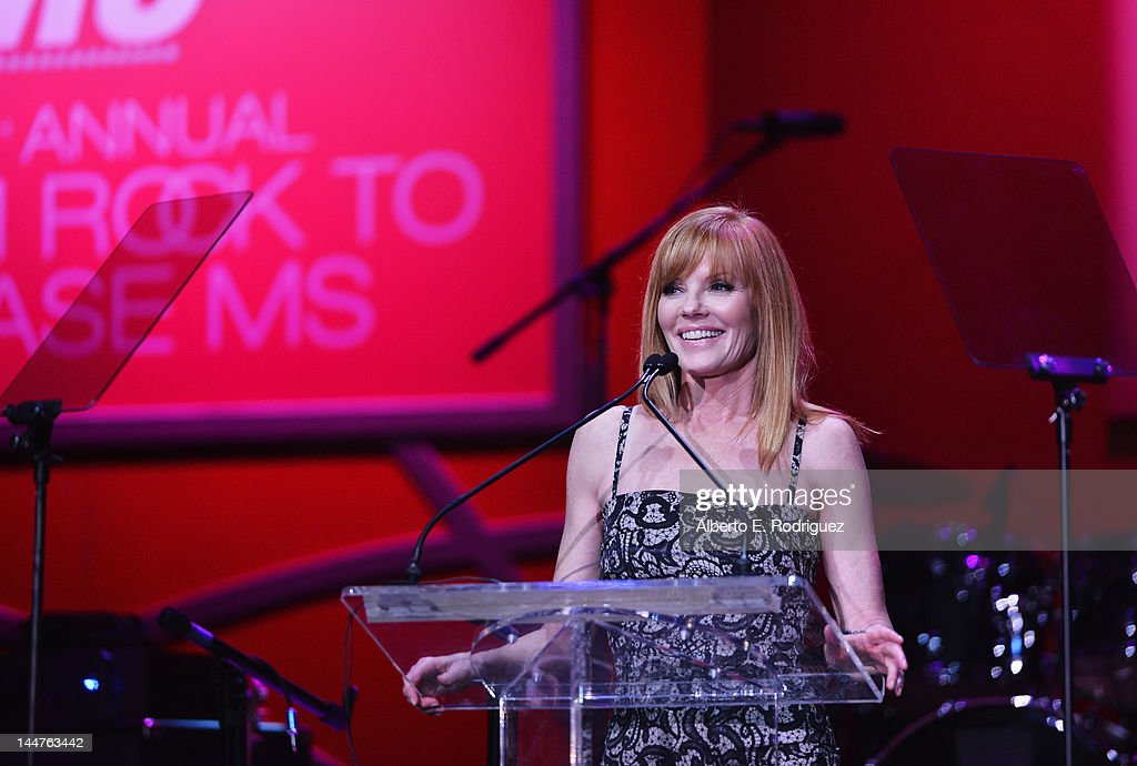 Actress <a gi-track='captionPersonalityLinkClicked' href=/galleries/search?phrase=Marg+Helgenberger&family=editorial&specificpeople=201493 ng-click='$event.stopPropagation()'>Marg Helgenberger</a> speaks onstage at the 19th Annual Race To Erase MS held at the Hyatt Regency Century Plaza on May 18, 2012 in Century City, California.