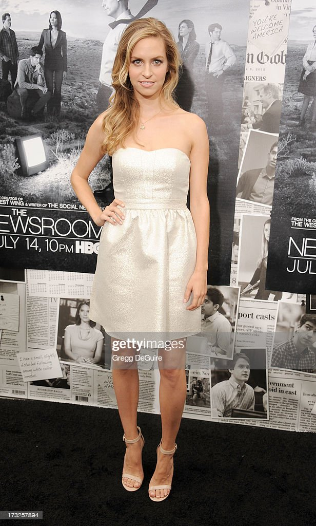 Actress Margaret Judson arrives at the Los Angeles Season 2 premiere of HBO's series 'The Newsroom' at Paramount Studios on July 10, 2013 in Hollywood, California.