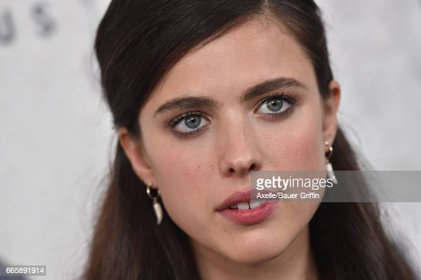 Actress Margaret Qualley arrives at the Season 3 Premiere of 'The Leftovers' at Avalon Hollywood on April 4 2017 in Los Angeles California