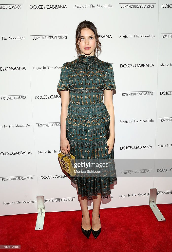 Actress <a gi-track='captionPersonalityLinkClicked' href=/galleries/search?phrase=Margaret+Qualley&family=editorial&specificpeople=4418205 ng-click='$event.stopPropagation()'>Margaret Qualley</a> attends 'Magic In The Moonlight' premiere at Paris Theater on July 17, 2014 in New York City.
