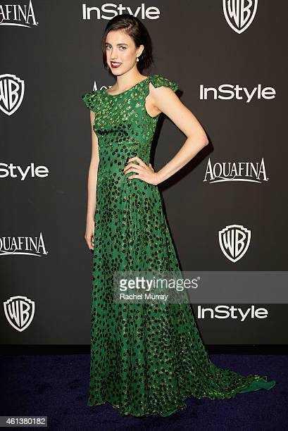 Actress Margaret Qualley attends the 2015 InStyle And Warner Bros 72nd Annual Golden Globe Awards PostParty at The Beverly Hilton Hotel on January 11...