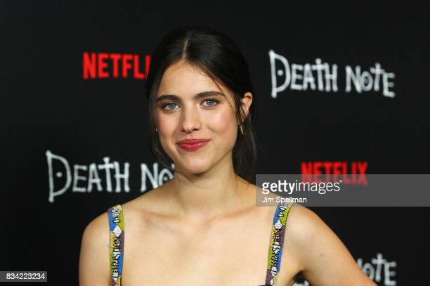 Actress Margaret Qualley attends the 'Death Note' New York premiere at AMC Loews Lincoln Square 13 theater on August 17 2017 in New York City