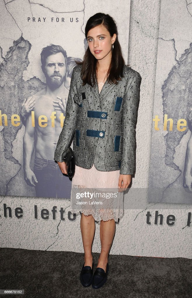Actress Margaret Qualley attends the season 3 premiere of 'The Leftovers' at Avalon Hollywood on April 4, 2017 in Los Angeles, California.