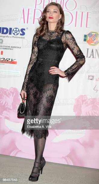 Actress Margareth Made attends the '2010 Premio Afrodite' at the Studios on April 14 2010 in Rome Italy