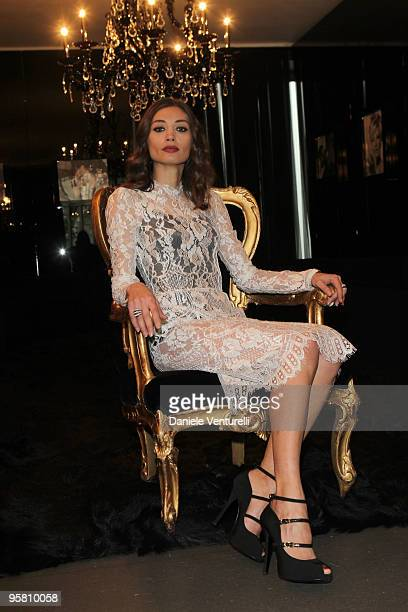 Actress Margareth Made attends the Dolce Gabbana Milan Menswear Autumn/Winter 2010 show on January 16 2010 in Milan Italy