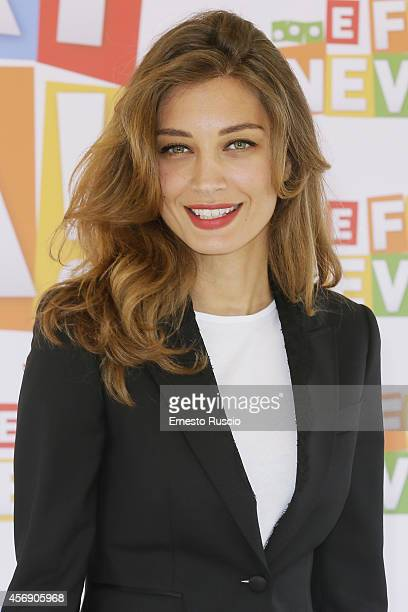 Actress Margareth Made attends the 'E Fuori Nevica' photocall at la Citta Del Gusto on October 9 2014 in Rome Italy