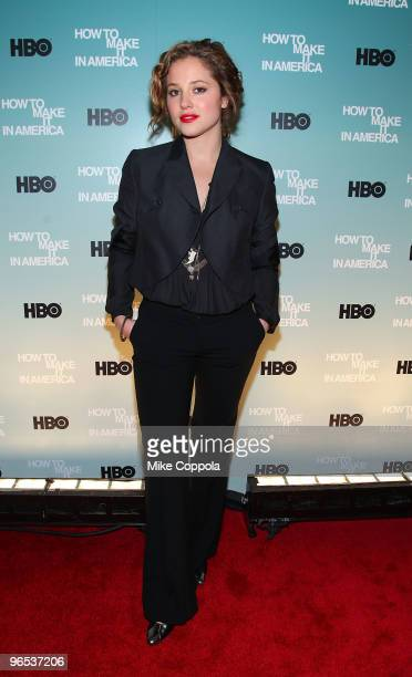 Actress Margarita Levieva attends the Cinema Society and HBO screening of 'How to Make it in America' at Landmark's Sunshine Cinema on February 9...