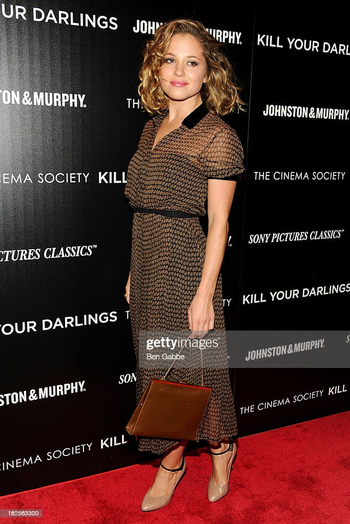 Actress <a gi-track='captionPersonalityLinkClicked' href=/galleries/search?phrase=Margarita+Levieva&family=editorial&specificpeople=630349 ng-click='$event.stopPropagation()'>Margarita Levieva</a> attends The Cinema Society and Johnston & Murphy host a screening of Sony Pictures Classics' 'Kill Your Darlings' at the Paris Theatre on September 30, 2013 in New York City.