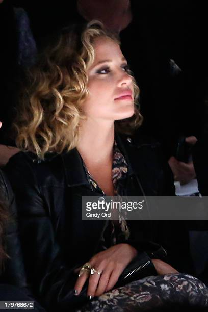Actress Margarita Levieva attends the Mark and Estel runway show during MercedesBenz Fashion Week Spring 2014 at The Studio at Lincoln Center on...