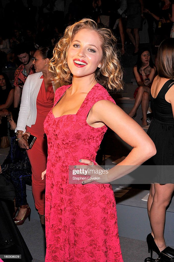 Actress <a gi-track='captionPersonalityLinkClicked' href=/galleries/search?phrase=Margarita+Levieva&family=editorial&specificpeople=630349 ng-click='$event.stopPropagation()'>Margarita Levieva</a> attends the Nanette Lepore fashion show during Mercedes-Benz Fashion Week Spring 2014 at The Stage at Lincoln Center on September 11, 2013 in New York City.
