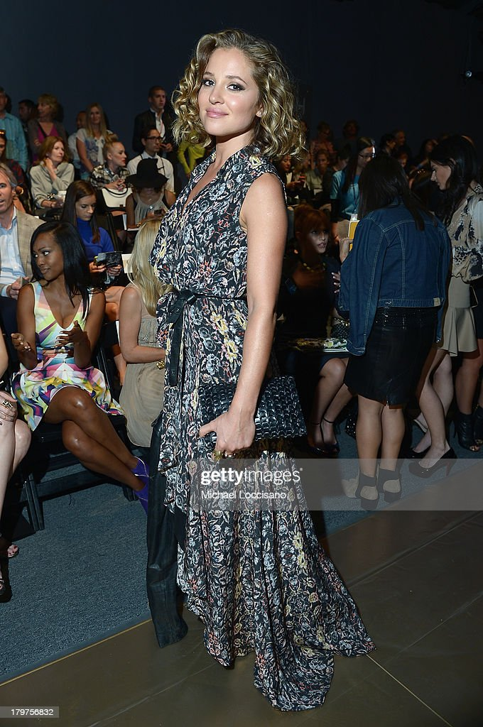 Actress <a gi-track='captionPersonalityLinkClicked' href=/galleries/search?phrase=Margarita+Levieva&family=editorial&specificpeople=630349 ng-click='$event.stopPropagation()'>Margarita Levieva</a> attends the Nicole Miller Spring 2014 fashion show during Mercedes-Benz Fashion Week at The Studio at Lincoln Center on September 6, 2013 in New York City.