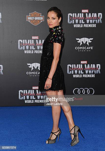Actress Margarita Levieva attends the premiere of 'Captain America Civil War' at Dolby Theatre on April 12 2016 in Hollywood California