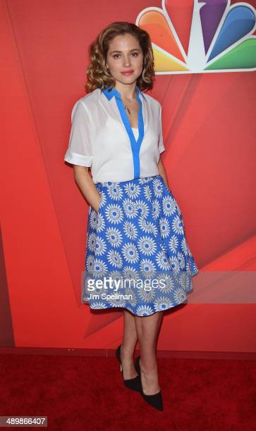 Actress Margarita Levieva from 'Allegiance' attends the 2014 NBC Upfront Presentation at The Jacob K Javits Convention Center on May 12 2014 in New...