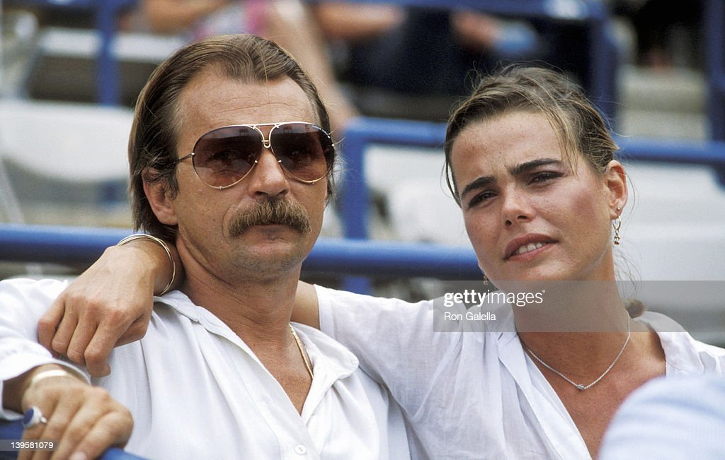 Actress <a gi-track='captionPersonalityLinkClicked' href=/galleries/search?phrase=Margaux+Hemingway&family=editorial&specificpeople=218193 ng-click='$event.stopPropagation()'>Margaux Hemingway</a> and husband Bernard Foucher attend the Eighth Annual Robert F. Kennedy Pro-Celebrity Tennis Tournament on August 25, 1979 at Flushing Meadows Park in Flushing, Queens, New York.