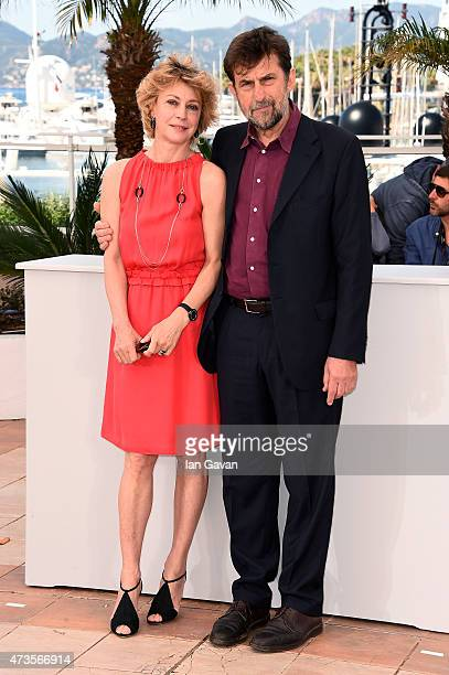 Actress Margherita Buy and director Nanni Moretti attends a photocall for 'Mia Madre' during the 68th annual Cannes Film Festival on May 16 2015 in...
