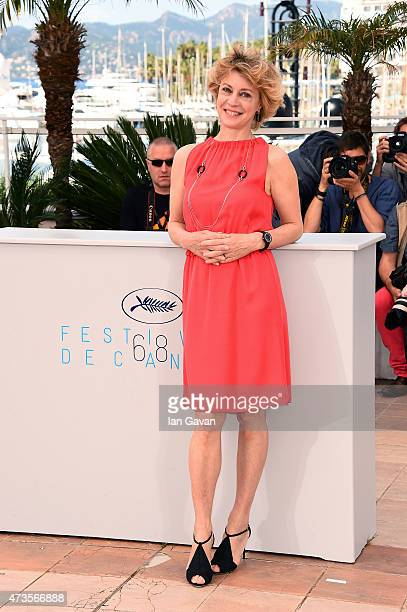 Actress Margherita Buy attends a photocall for 'Mia Madre' during the 68th annual Cannes Film Festival on May 16 2015 in Cannes France