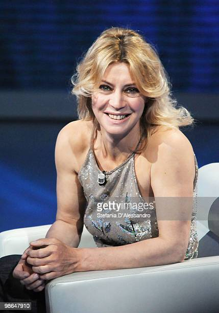 Actress Margherita Buy attends 'Che Tempo Che Fa' Italian Tv Show held at Rai Studios on April 24 2010 in Milan Italy
