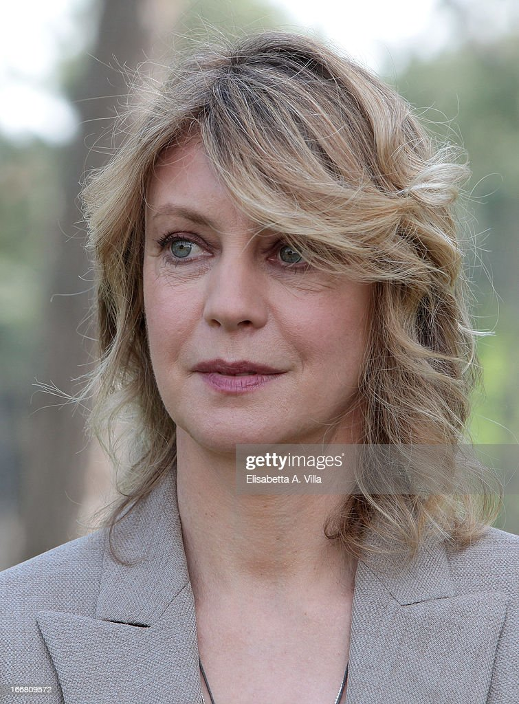 Actress Margherita Buy attends 'Viaggio Sola' photocall at Villa Borghese on April 17, 2013 in Rome, Italy.