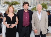 Actress Margherita Buy director Nanni Moretti and actor Michel Piccoli attend the 'Habemus Papam' Photocall during the 64th Annual Cannes Film...