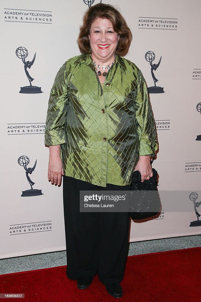 Actress <a gi-track='captionPersonalityLinkClicked' href=/galleries/search?phrase=Margo+Martindale&family=editorial&specificpeople=2649306 ng-click='$event.stopPropagation()'>Margo Martindale</a> arrives at 'An Evening Honoring James Burrows' at Academy of Television Arts & Sciences on October 7, 2013 in North Hollywood, California.