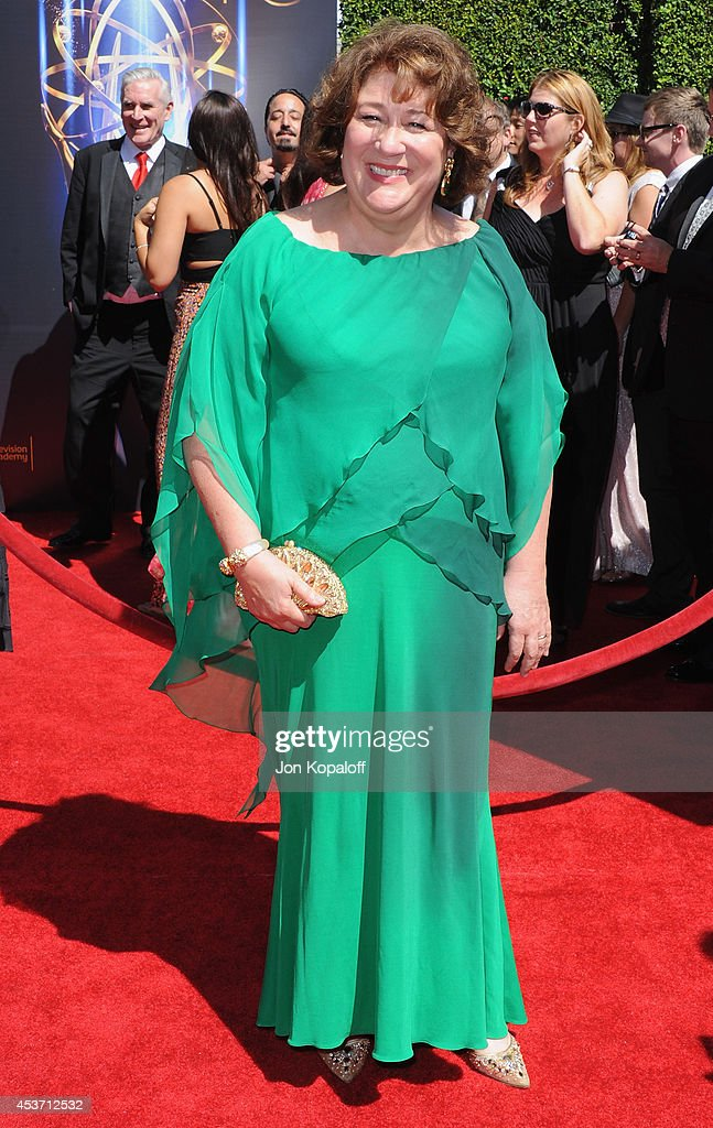 Actress Margo Martindale arrives at the 2014 Creative Arts Emmy Awards at Nokia Theatre LA Live on August 16 2014 in Los Angeles California