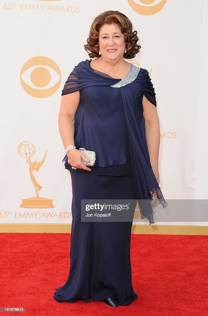 Actress <a gi-track='captionPersonalityLinkClicked' href=/galleries/search?phrase=Margo+Martindale&family=editorial&specificpeople=2649306 ng-click='$event.stopPropagation()'>Margo Martindale</a> arrives at the 65th Annual Primetime Emmy Awards at Nokia Theatre L.A. Live on September 22, 2013 in Los Angeles, California.