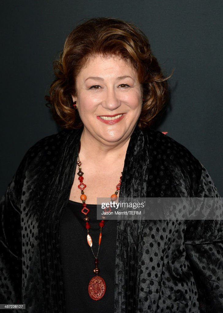 Actress <a gi-track='captionPersonalityLinkClicked' href=/galleries/search?phrase=Margo+Martindale&family=editorial&specificpeople=2649306 ng-click='$event.stopPropagation()'>Margo Martindale</a> arrives at the premiere of The Weinstein Company's 'August: Osage County' at Regal Cinemas L.A. Live on December 16, 2013 in Los Angeles, California.