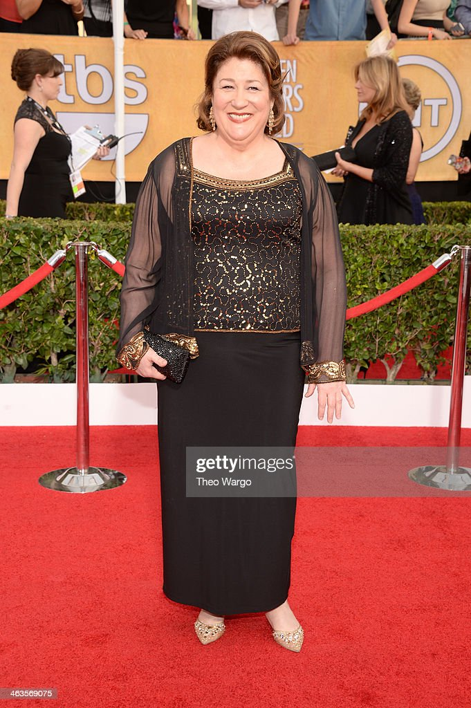 Actress <a gi-track='captionPersonalityLinkClicked' href=/galleries/search?phrase=Margo+Martindale&family=editorial&specificpeople=2649306 ng-click='$event.stopPropagation()'>Margo Martindale</a> attends 20th Annual Screen Actors Guild Awards at The Shrine Auditorium on January 18, 2014 in Los Angeles, California.
