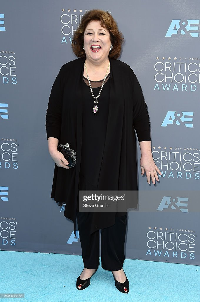 Actress <a gi-track='captionPersonalityLinkClicked' href=/galleries/search?phrase=Margo+Martindale&family=editorial&specificpeople=2649306 ng-click='$event.stopPropagation()'>Margo Martindale</a> attends the 21st Annual Critics' Choice Awards at Barker Hangar on January 17, 2016 in Santa Monica, California.