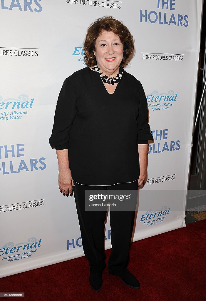Actress Margo Martindale attends the premiere of 'The Hollars' at Linwood Dunn Theater on August 22 2016 in Los Angeles California