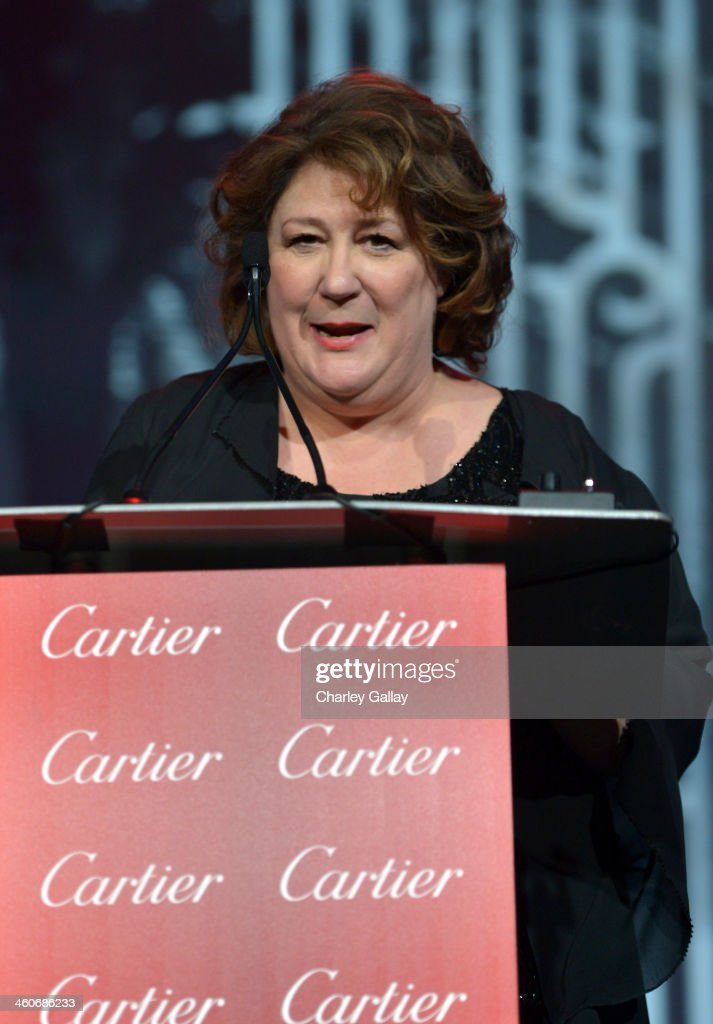 Actress <a gi-track='captionPersonalityLinkClicked' href=/galleries/search?phrase=Margo+Martindale&family=editorial&specificpeople=2649306 ng-click='$event.stopPropagation()'>Margo Martindale</a> speaks onstage during the 25th annual Palm Springs International Film Festival awards gala at Palm Springs Convention Center on January 4, 2014 in Palm Springs, California.