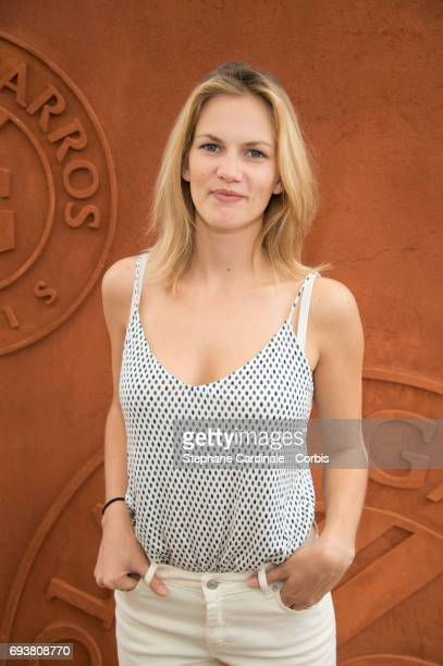 Actress Margot Bancilhon attends the French Tennis Open 2017 Day Twelve at Roland Garros on June 8 2017 in Paris France