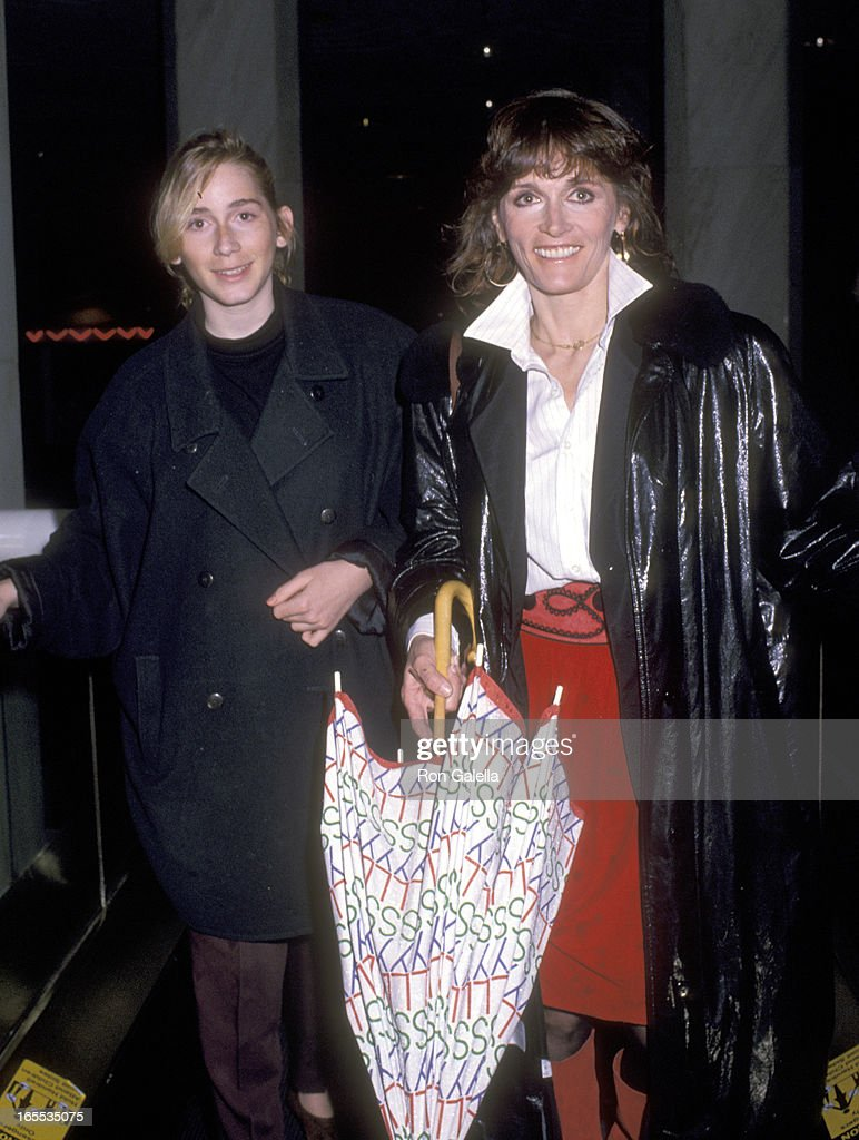Actress Margot Kidder and daughter Maggie McGuane on February 15, 1989 shopping at FAO Schwarz in New York City, New York.