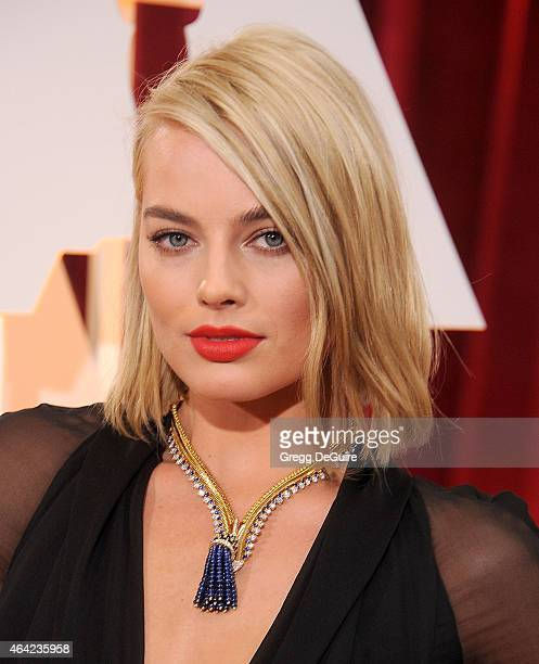 Actress Margot Robbie arrives at the 87th Annual Academy Awards at Hollywood Highland Center on February 22 2015 in Hollywood California