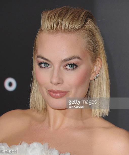 Actress Margot Robbie arrives at the Los Angeles Premiere 'Focus' at TCL Chinese Theatre on February 24 2015 in Hollywood California