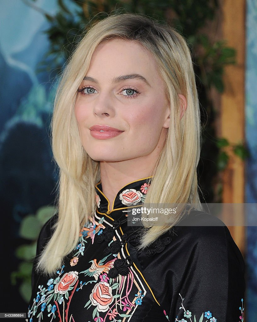 Actress <a gi-track='captionPersonalityLinkClicked' href=/galleries/search?phrase=Margot+Robbie&family=editorial&specificpeople=5781742 ng-click='$event.stopPropagation()'>Margot Robbie</a> arrives at the Los Angeles Premiere 'The Legend Of Tarzan' at TCL Chinese Theatre on June 27, 2016 in Hollywood, California.