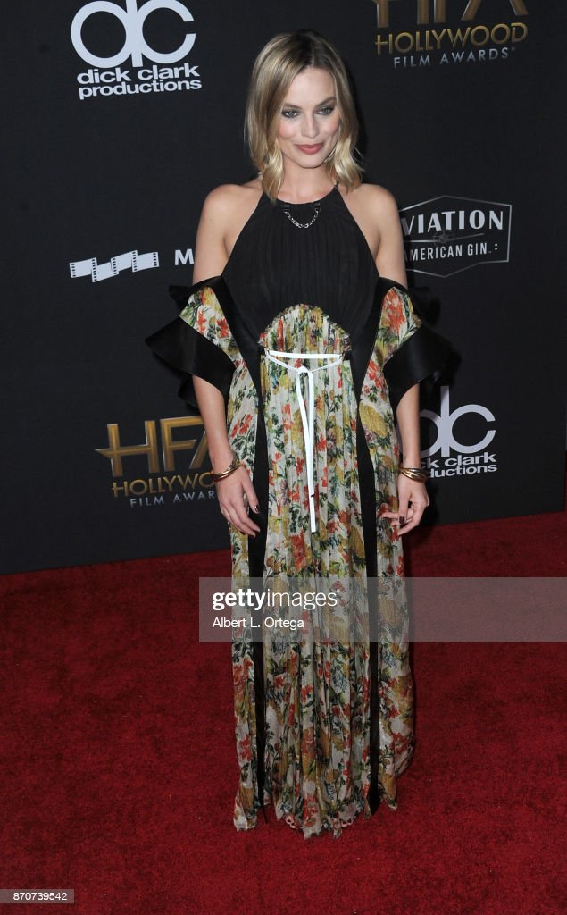 Actress Margot Robbie arrives for the 21st Annual Hollywood Film Awards held at The Beverly Hilton Hotel on November 5, 2017 in Beverly Hills, California.