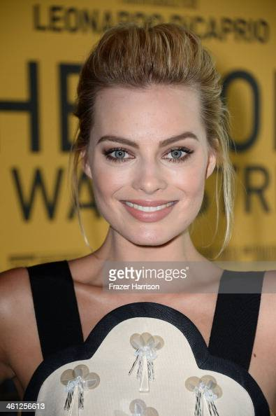 Actress Margot Robbie attends an Australians In Film Screening Of 'The Wolf Of Wall Street' at Landmark Theatre on January 7 2014 in Los Angeles...