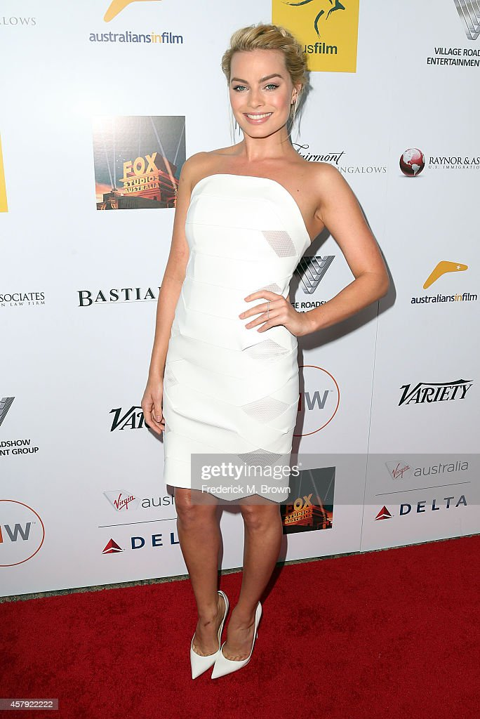 Actress Margot Robbie attends the 3rd Annual Australians in Film Awards Benefit Gala at the Fairmont Miramar Hotel on October 26 2014 in Santa Monica...
