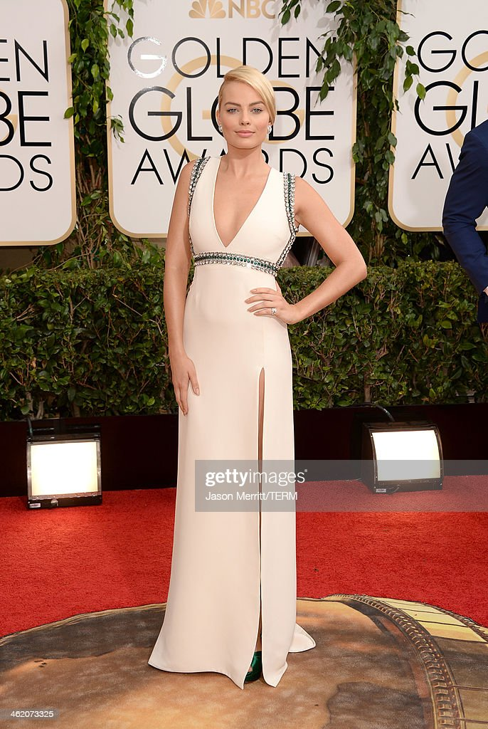 Actress Margot Robbie attends the 71st Annual Golden Globe Awards held at The Beverly Hilton Hotel on January 12 2014 in Beverly Hills California