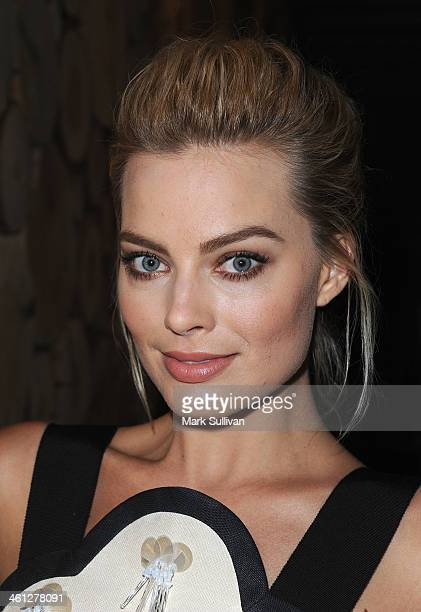 Actress Margot Robbie attends the Australians In Film special screening of 'The Wolf of Wall Street' at Landmark Nuart Theatre on January 7 2014 in...
