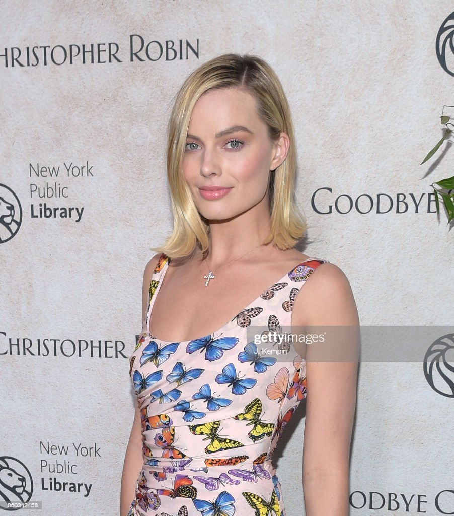 Actress Margot Robbie attends the 'Good Bye Christopher Robin' New York Special Screening at The New York Public Library on October 11, 2017 in New York City.