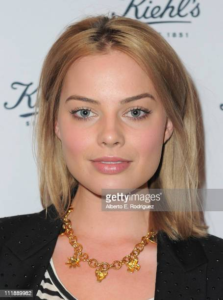 Actress Margot Robbie attends the launch of Kiehl's 'Rare Earth Deep Pore Cleansing Masque' on April 7 2011 in Santa Monica California