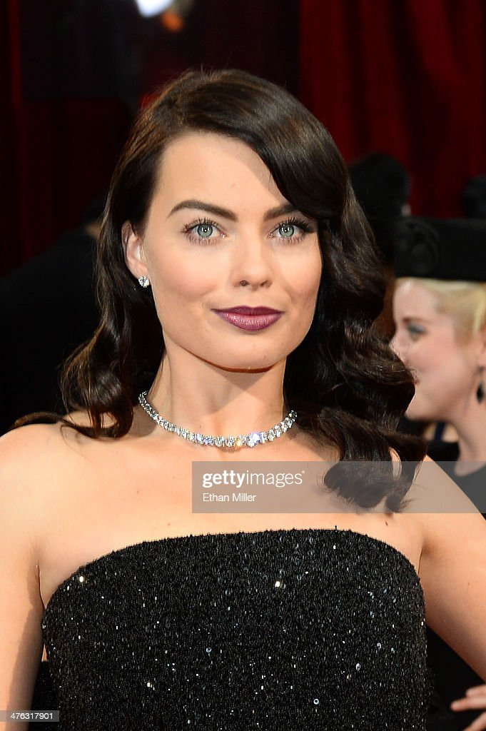 Actress Margot Robbie attends the Oscars held at Hollywood & Highland Center on March 2, 2014 in Hollywood, California.